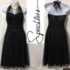 SPEECHLESS BLACK COCKTAIL DRESS